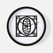 Art Nouveau Initial O Wall Clock