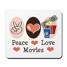 Peace Love Movies Mousepad