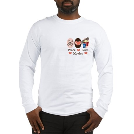 Peace Love Movies Long Sleeve T-Shirt
