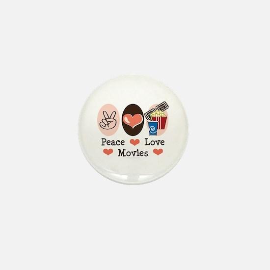 Peace Love Movies Mini Button