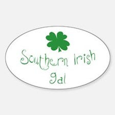 Southern Irish Gal Oval Decal