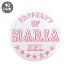 "Property of Maria Personalized 3.5"" Button (10 pac"