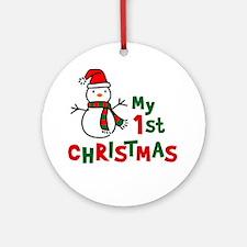 My 1st Christmas - Snowman Ornament (Round)