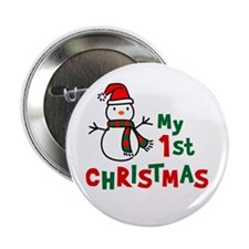 "My 1st Christmas - Snowman 2.25"" Button"