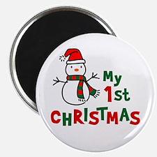 My 1st Christmas - Snowman Magnet
