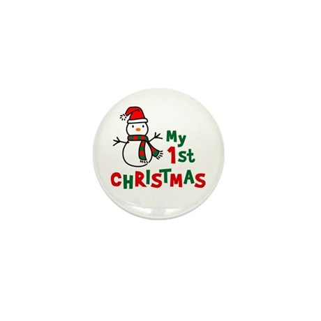 My 1st Christmas - Snowman Mini Button (10 pack)