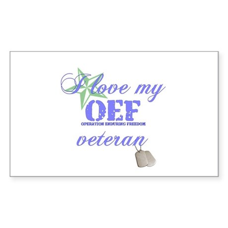 I Love My OEF Vet (Army) Rectangle Sticker