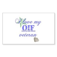 I Love My OIF Vet (Army) Rectangle Decal