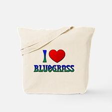 I Love (Heart) Bluegrass Tote Bag