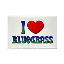 I Love (Heart) Bluegrass Rectangle Magnet
