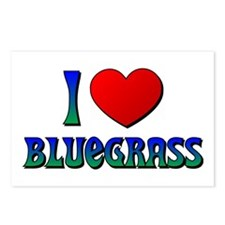 I Love (Heart) Bluegrass Postcards (Package of 8)