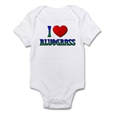 I Love (Heart) Bluegrass Infant Bodysuit