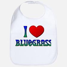 I Love (Heart) Bluegrass Bib