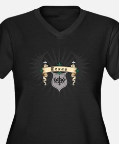 Texas Heraldry Women's Plus Size V-Neck Dark T-Shi