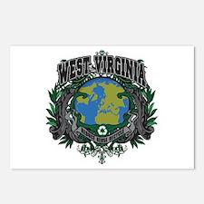 West Virginia Green Pride Postcards (Package of 8)