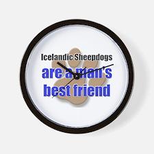 Icelandic Sheepdogs man's best friend Wall Clock