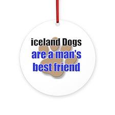 iceland Dogs man's best friend Ornament (Round)