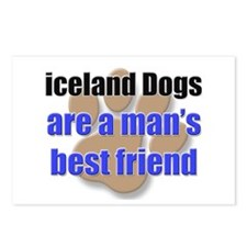 iceland Dogs man's best friend Postcards (Package