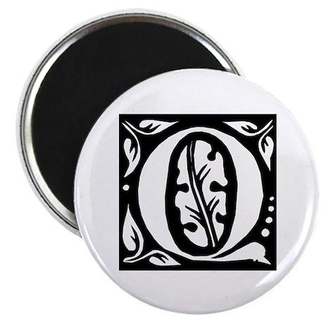 """Art Nouveau Initial Q 2.25"""" Magnet (100 pack)"""