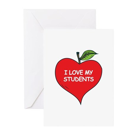 I Love My Students Greeting Cards (Pk of 20)
