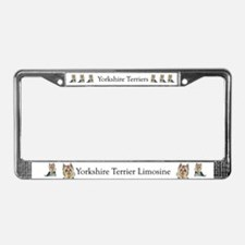 Yorkshire Terrier Her Highnes License Plate Frame