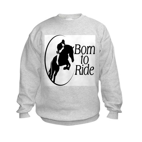 Born To Ride Kids Sweatshirt