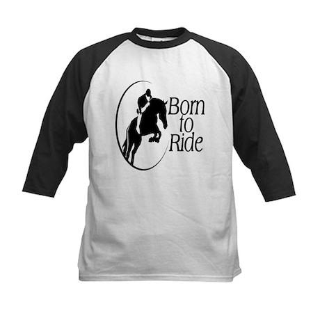 Born To Ride Kids Baseball Jersey