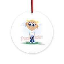 Preschool Girl (bl) Ornament (Round)