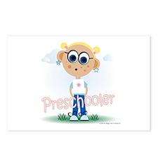 Preschool Girl (bl) Postcards (Package of 8)