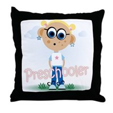 Preschool Girl (bl) Throw Pillow