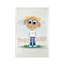Preschool Girl (bl) Rectangle Magnet