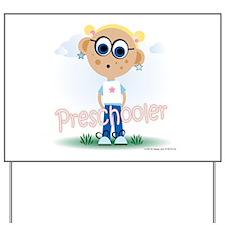 Preschool Girl (bl) Yard Sign