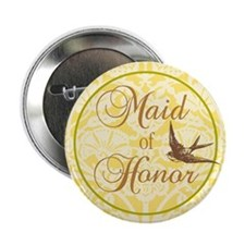 """Bird Maid of Honor 2.25"""" Button"""