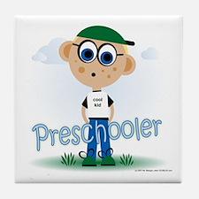 Preschool Boy (bl) Tile Coaster