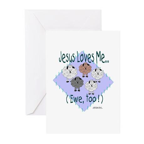 Jesus Loves Me Greeting Cards (Pk of 10)