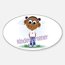 Kindergartener Girl (aa) Oval Decal