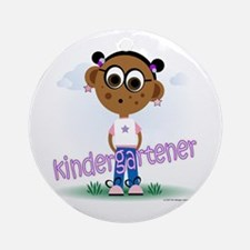Kindergartener Girl (aa) Ornament (Round)
