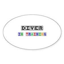 Diver In Training Oval Sticker