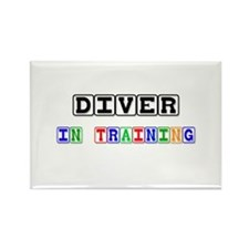 Diver In Training Rectangle Magnet