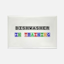Dishwasher In Training Rectangle Magnet