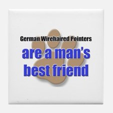 German Wirehaired Pointers man's best friend Tile