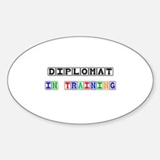 Diplomat In Training Oval Decal