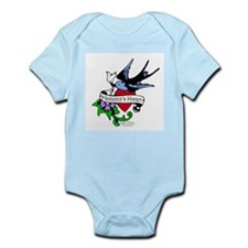 Mommy's Heart Dove Tattoo Infant Bodysuit