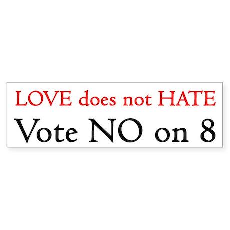 VOTE NO ON 8! (See Description) Sticker (Bumper 10