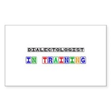 Dialectologist In Training Rectangle Decal