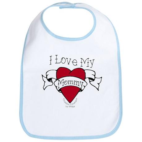Mommy Heart Tattoo Bib