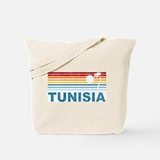 Retro Palm Tree Tunisia Tote Bag
