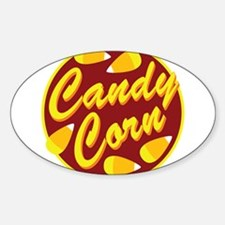 Retro Candy Corn Oval Decal