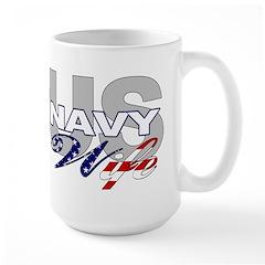 US Navy Wife Large Mug