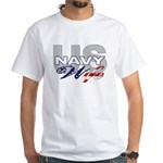 US Navy Wife White T-Shirt